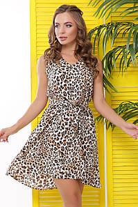 Летнее платье мини в леопардовый принт