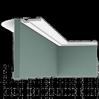 Карниз(плинтус) потолочный гладкий Orac Decor Axxent CX161 1,3 x 6,9 x200 см лепной декор из дюрополимера