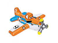 Детский надувной плотик Самолет Planes Intex 57532, 119-119 см