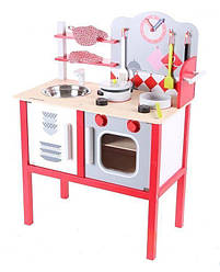 Детская деревянная кухня EcoToys 4201 + 7 аксессуаров (8098)