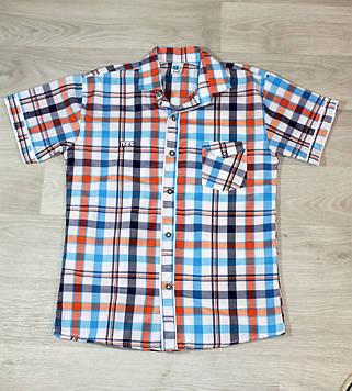 Рубашка с коротким рукавом для мальчика в клетку