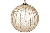 Елочный шар 15 см, цвет: золотоой антик (6 шт)