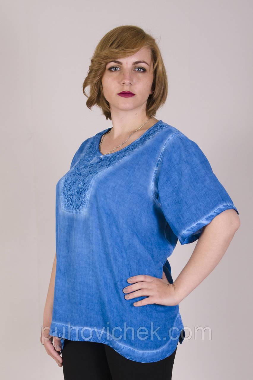 Блузки и туники женские летние интернет магазин большого размера