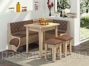 Кухонный уголок с раскладным столом Милорд