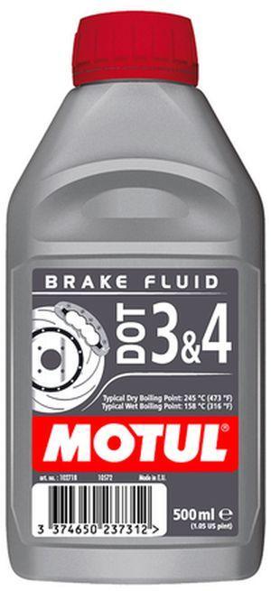 Тормозная жидкость 100% синтетическая MOTUL DOT 3&4 (0.5L)