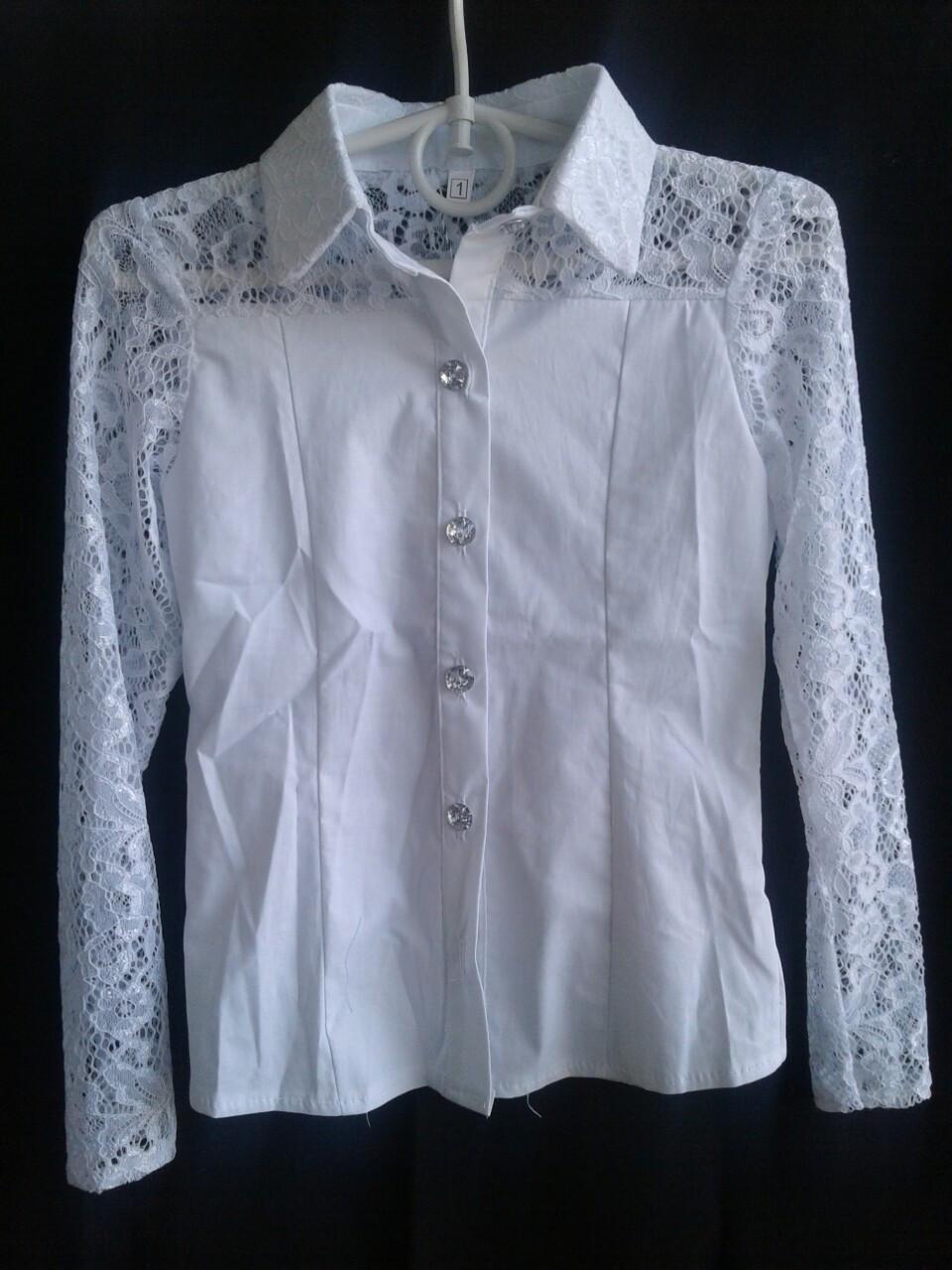 Блузка в школу  для девочки р.122-146 опт