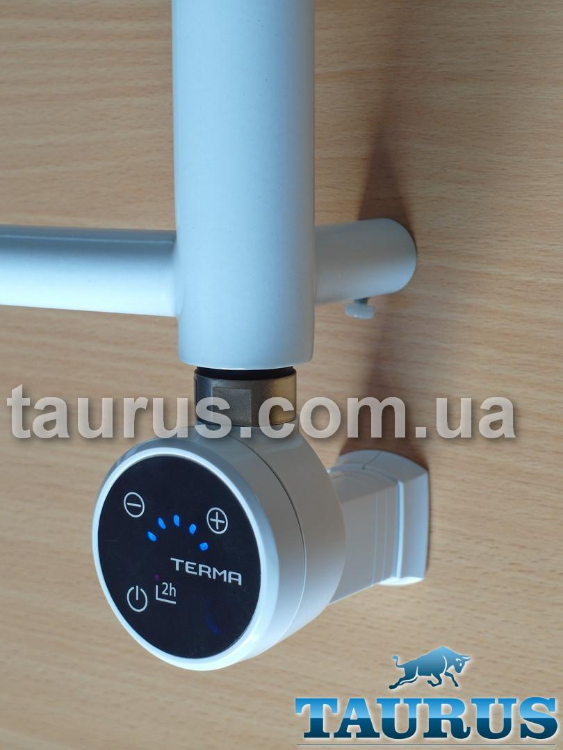 """Белый ТЭН MOA IR MS white с маскировкой провода, + регулятор + таймер 2ч. + под пульт ДУ + звук. Польша, 1/2"""""""