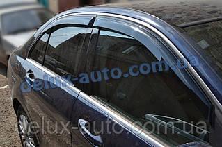 Ветровики Cobra Tuning на авто Mercedes Benz C-klasse Sd W204 2006-2014 Дефлекторы окон Кобра Мерседес С 204