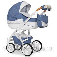 Детская универсальная коляска 2 в 1 Riko Brano Luxe 04 Denim