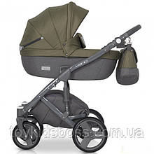 Детская универсальная коляска 2 в 1 Riko Vario 03 Olive