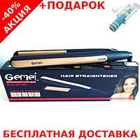 Профессиональный выпрямитель для волос Gemei GM-2955 с турмалиновым покрытием + монопод для селфи