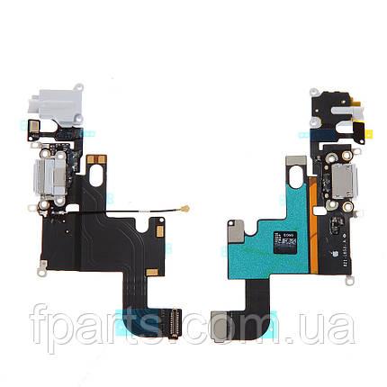 Шлейф iPhone 6 коннектор зарядки, микрофон, White (Original PRC), фото 2