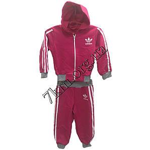 """Спортивный костюм детский реплика """"adidas"""" 1-3 года малиновый Оптом 290600-3"""