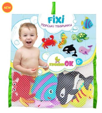 """Набор фигурок на присосках для игры в ванной """"Морские животные"""""""