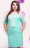 Нарядное платье в больших размерах (в расцветках), фото 1
