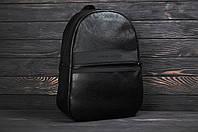 Рюкзак городской кожаный в стиле Calvin Klein черный
