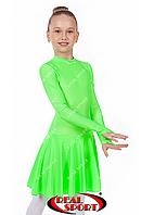 Бейсик для танцев, салатовый RS849 (бифлекс, р-р 64-84, рост 122-164 см)