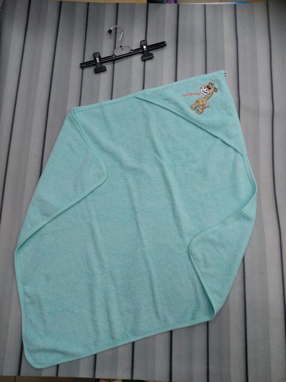Детское полотенце для купания с уголком