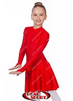 Бейсик для танцев, красный RS849 (бифлекс, р-р 64-84, рост 122-164 см)