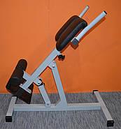 Гиперэкстензия регулируемая со сменным углом наклона, профессиональная серия до 200 кг., фото 4