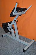 Гиперэкстензия регулируемая со сменным углом наклона, профессиональная серия до 200 кг., фото 5