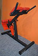 Гиперэкстензия регулируемая со сменным углом наклона, профессиональная серия до 200 кг., фото 3
