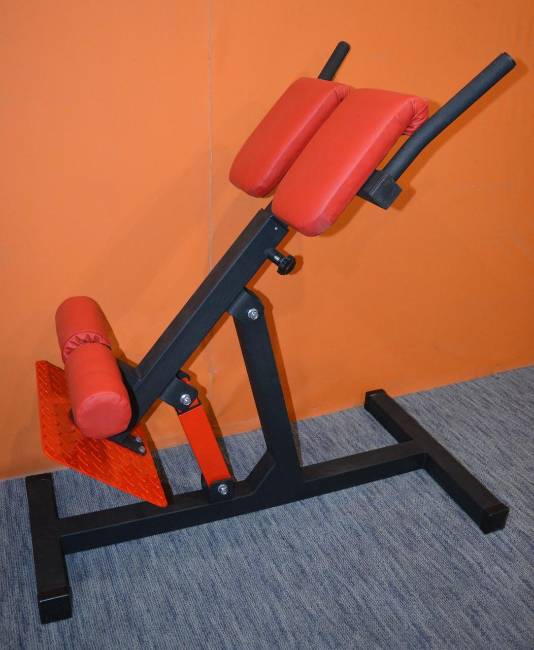 Гиперэкстензия регулируемая со сменным углом наклона, профессиональная серия до 200 кг.
