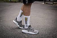 Высокие мужские носки с принтом FAKE Taxi, White