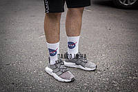 Высокие мужские носки с принтом NASA, White