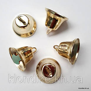 Колокольчики, D - 18 мм, высота: 12 мм, Цвет: Золото (5 шт.)