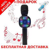 Микрофон  CHARGE K-310 синий Original size караоке динамик Bluetooth + монопод для селфи