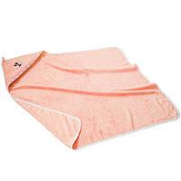 Пеленка для купания 100*100 махровая розового цвета, фото 1