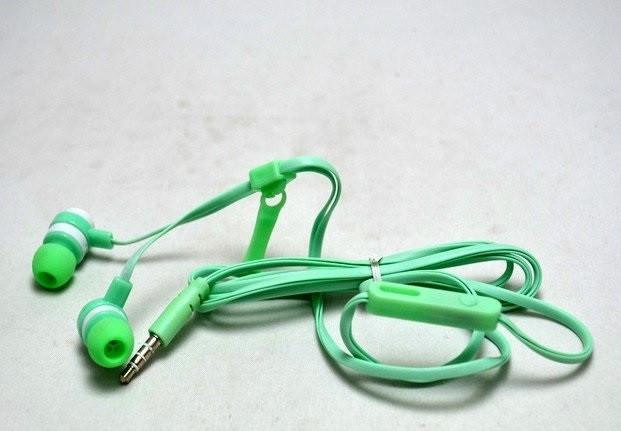 Наушники змейка с микрофоном ZIPPER Kiki-709 Зеленые