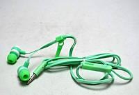 Наушники змейка с микрофоном ZIPPER Kiki-709 Зеленые, фото 1
