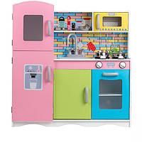 Детская деревянная кухня EcoToys TK038 + 10 аксессуаров (9000)