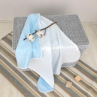 Плед муслин Маленькая Соня(Sonya) Украина бело-голубой 8700279