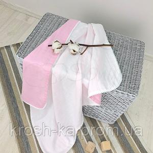 Плед муслин Маленькая Соня(Sonya) Украина бело-розовый 8700280