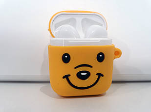 Чехол для наушников желтый мишка. AirPods Silicone Case for AirPods. Силиконовый чехол