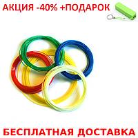 Набор пластика из 5 цветов PLA для 3D-ручки + повербанк 2600 mAh