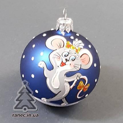 Стеклянный шар на елку с символом года 60478 диаметр 60 мм, фото 2