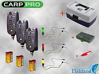 Сигнализаторы Carp Pro Detect 3 шт. + Свингера 3 шт. + Ящик + ПОДАРКИ