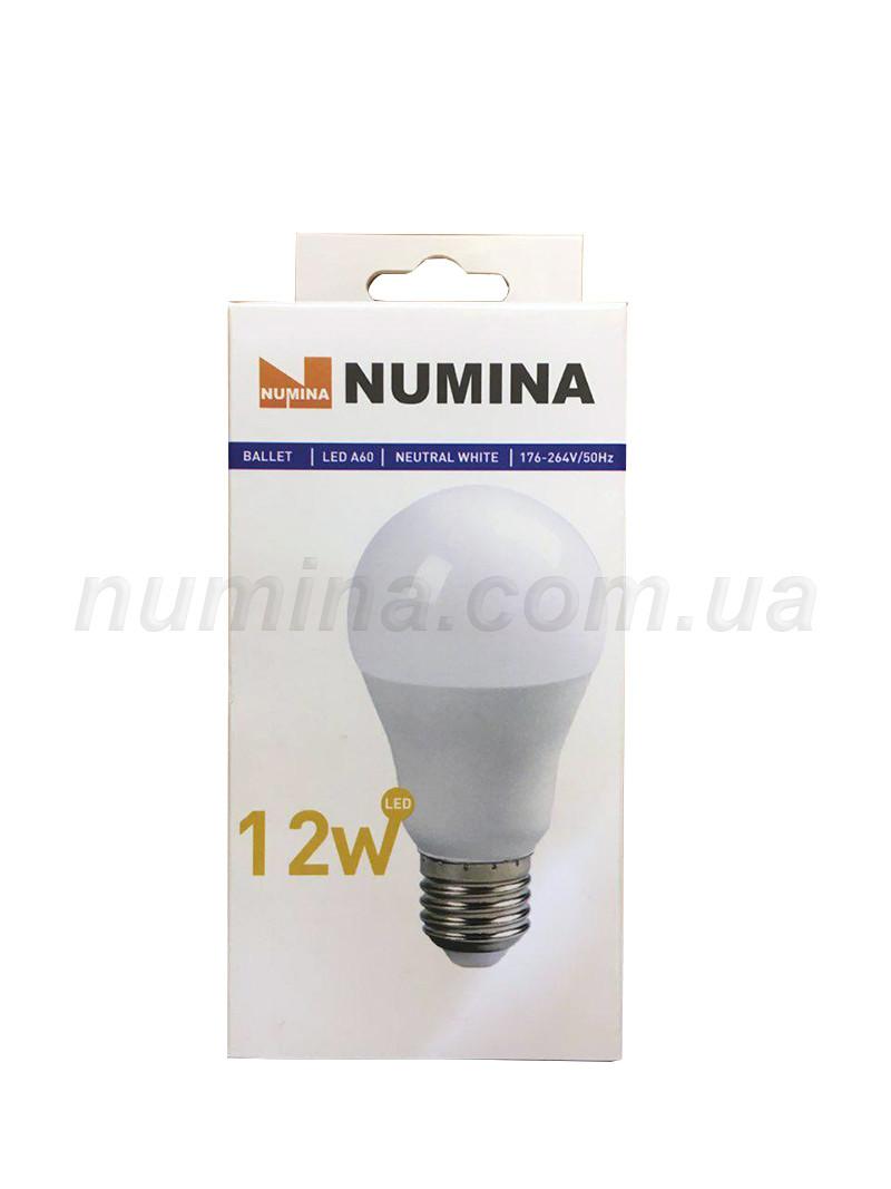 Светодиодная лампа груша LAMP картон WHITE A60 12W E27 4000K