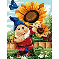 Картина по номерам Садовый гном 30Х40см Babylon VK221
