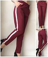 Летние женские брюки (штаны) Султанки А15 боровые с полоской
