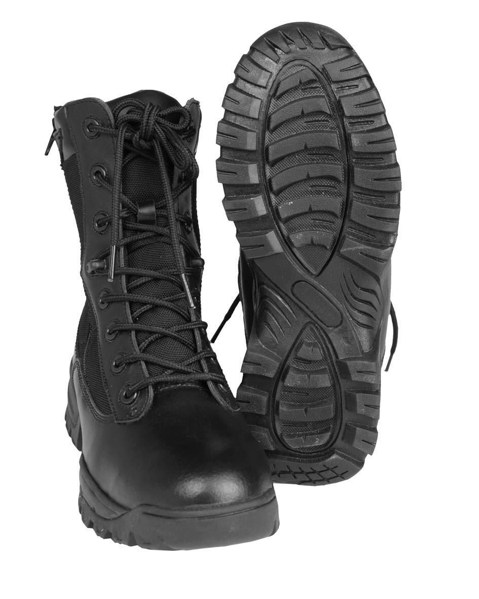 Тактические ботинки с двумя молниями MilTec Black 12822202