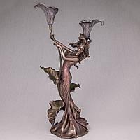 """Подсвечник Veronese """"Девушка и каллы"""" (39 см) на две свечи 10133 A4"""