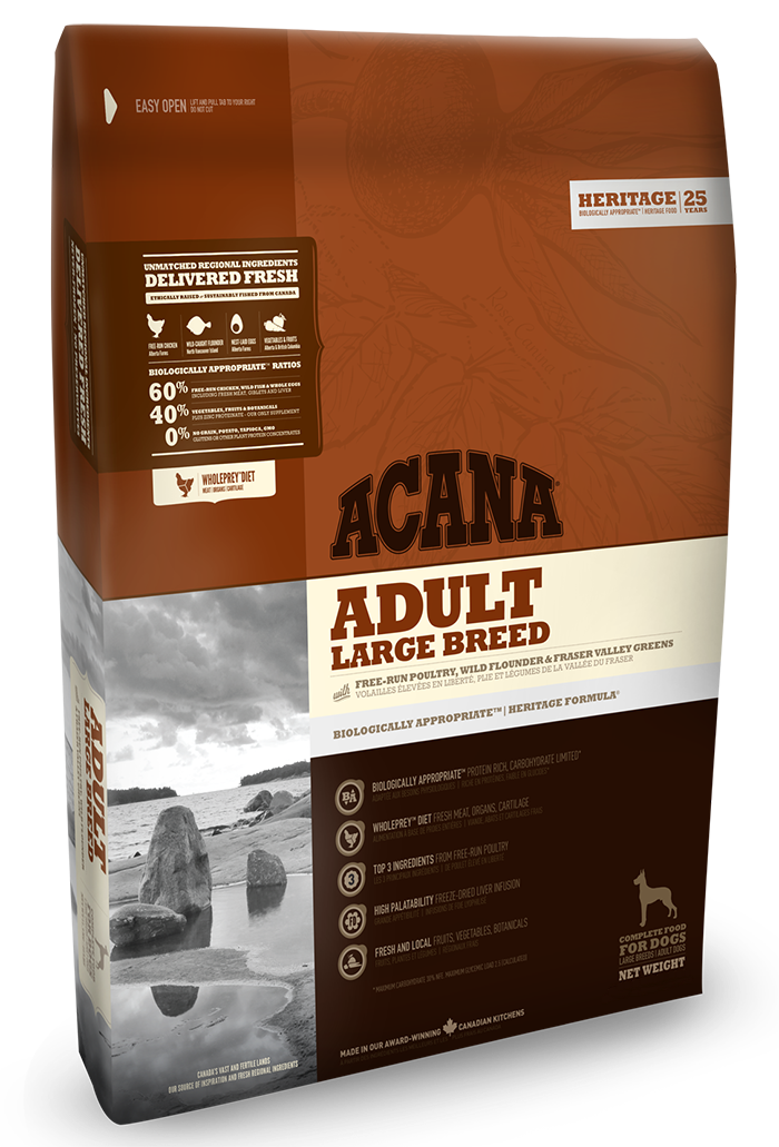 Сухой корм Acana ADULT LARGE BREED 11.4 кг - корм для собак крупных пород