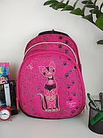 Рюкзак школьный Кошка для девочек спинка ортопедическая на 3 отделения размер 40х28х19