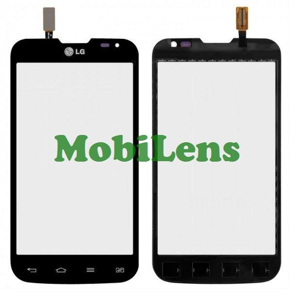 LG D325, D325F, Optimus L70 Dual Тачскрін (сенсор) чорний