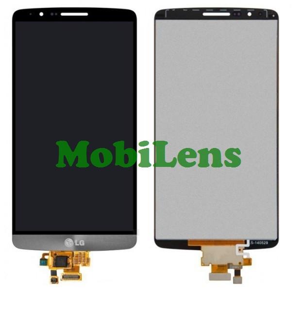 LG D855, D850, D856, D858, VS985, LG G3 Titanium Дисплей+тачскрин(модуль) черный (темно-серый)